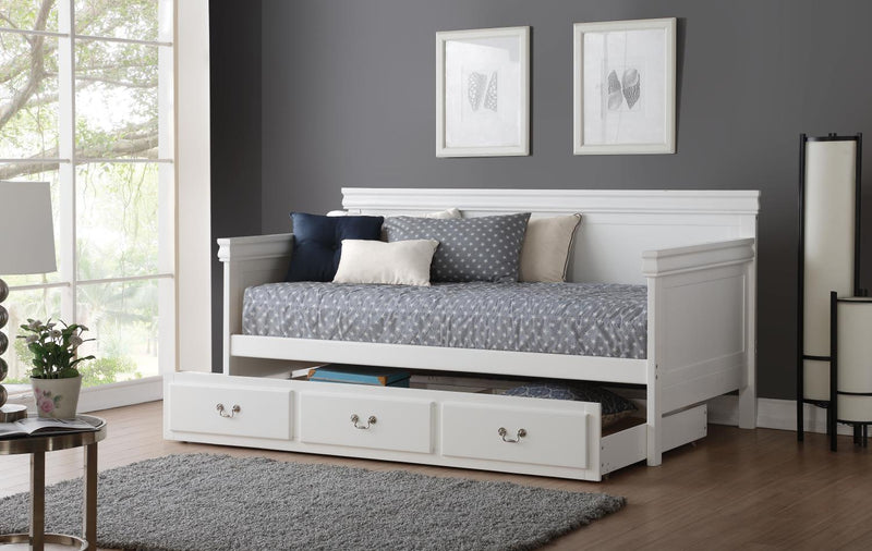 Stamen Daybed and Trundle Package - White