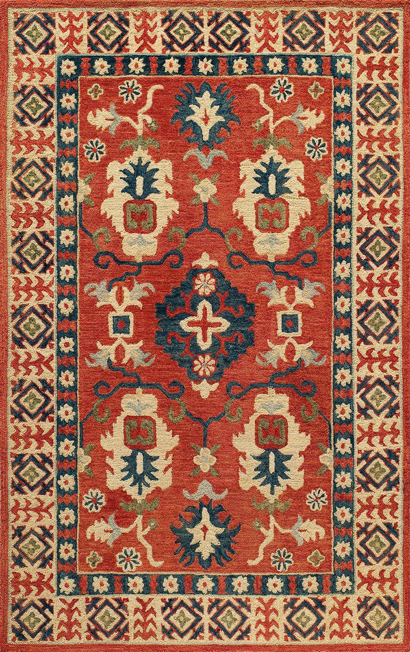 "Tangiera Red/Blue Area Rug (9'6"" X 13'6"")"