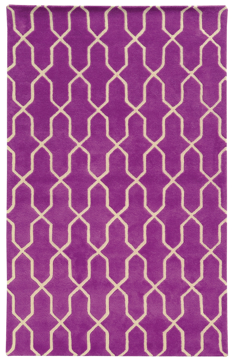 Pantone Universe Optic Geometric Orchid Area Rug (5'X 8')