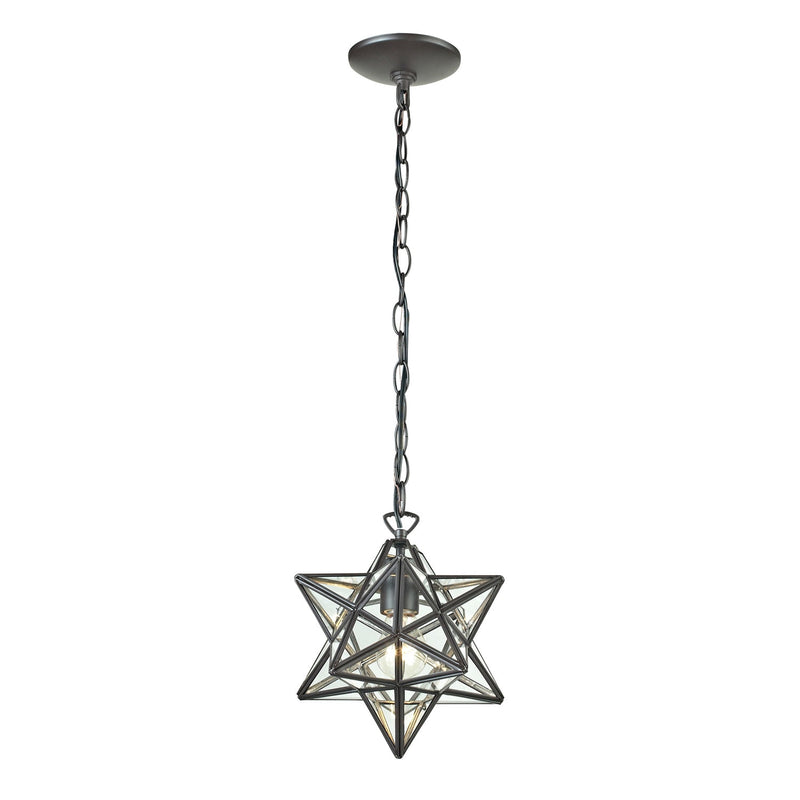 Star One Light Glass Pendant Lamp- 11""