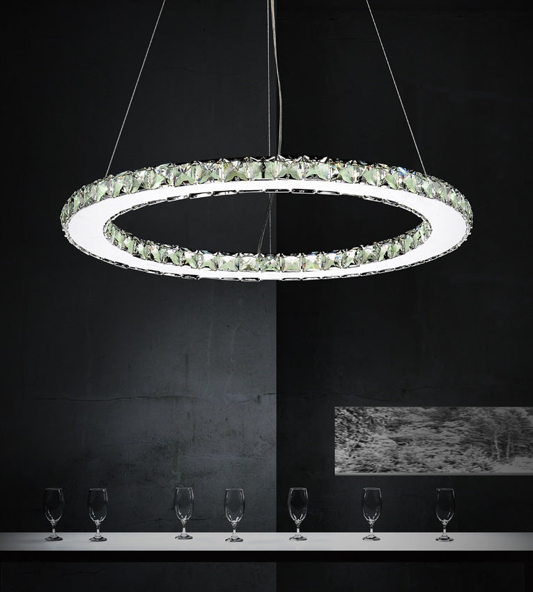 Ring-Twenty Four Light Led Chandelier