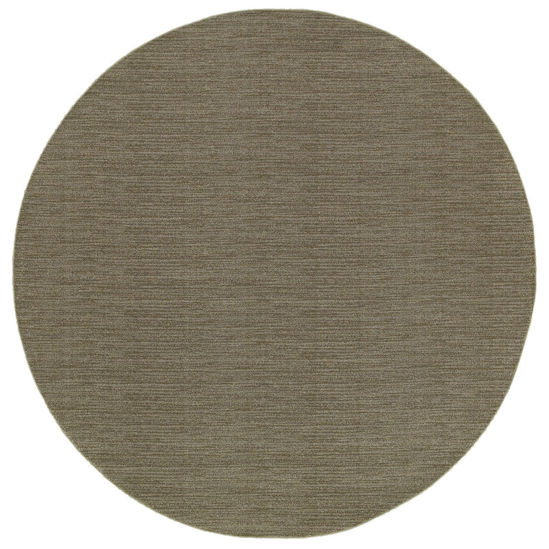 "Virginia Distressed Stripe Grey Area Rug (7'10"" Round)"