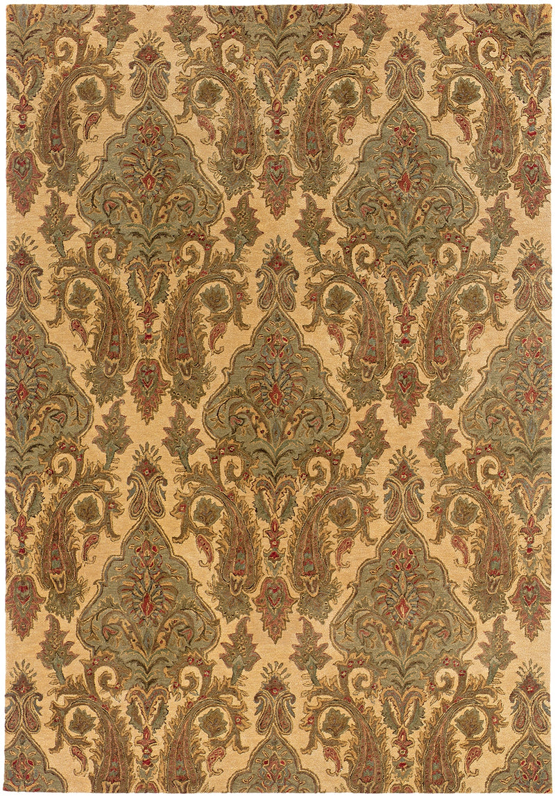 "Oxford Beige Floral Area Rug (5'3"" X 8'3"")"