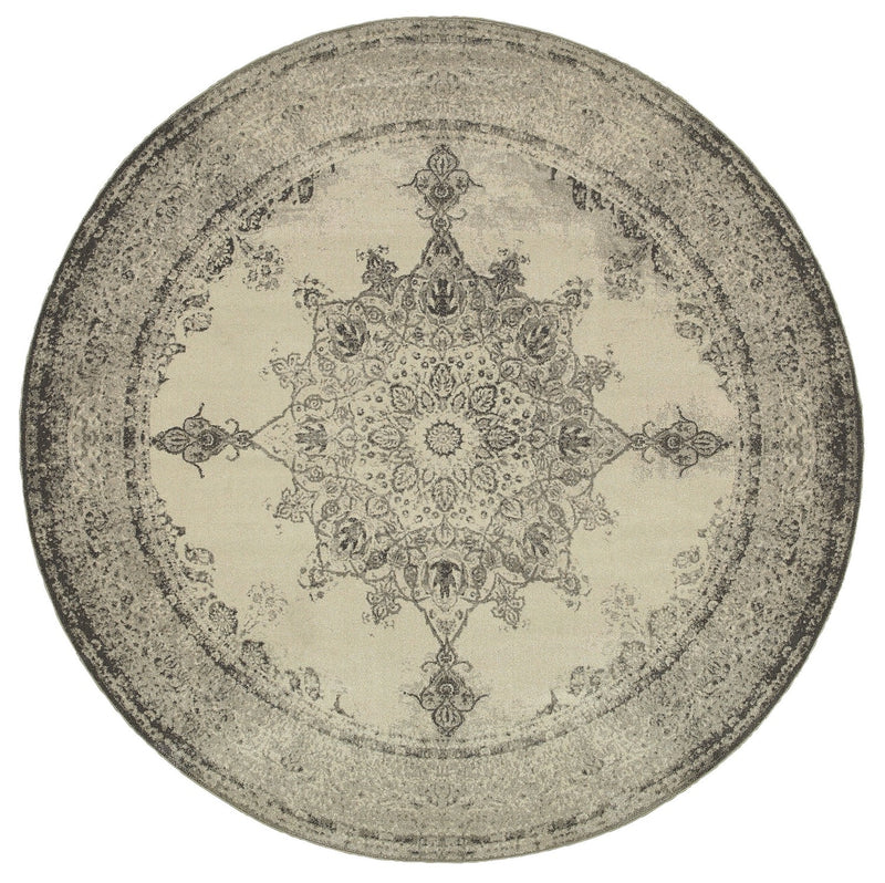 "Virginia Traditional Area Rug (7'10"" Round)"