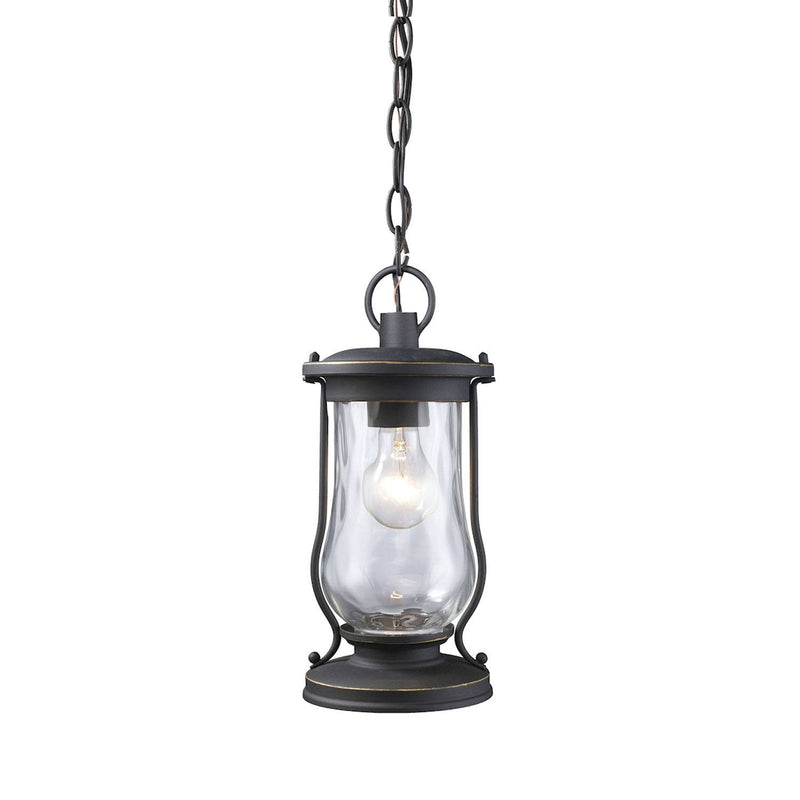 Puttur 1 Light Hanging - Matte Black