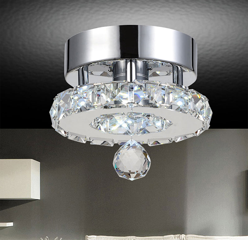 Ring-Chrome Flush Mount