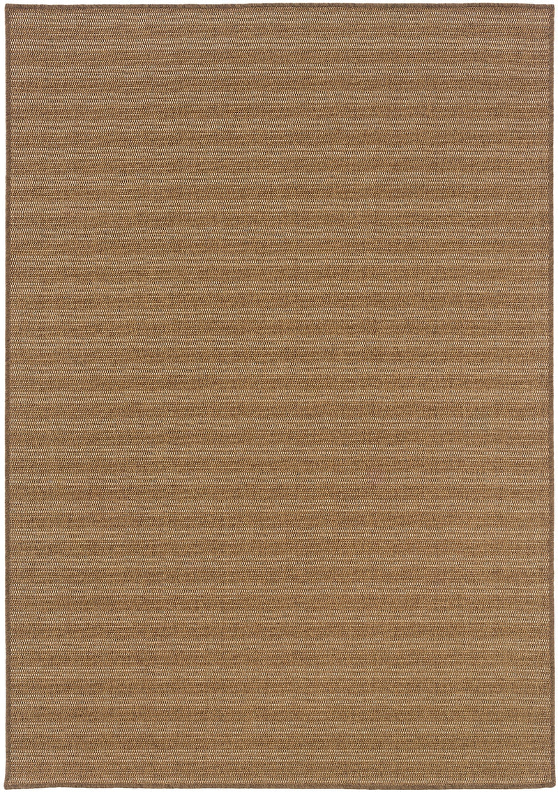 "Cafe 001X3 Woven Stripe Indoor/Outdoor Area Rug (8'6"" x 13')"