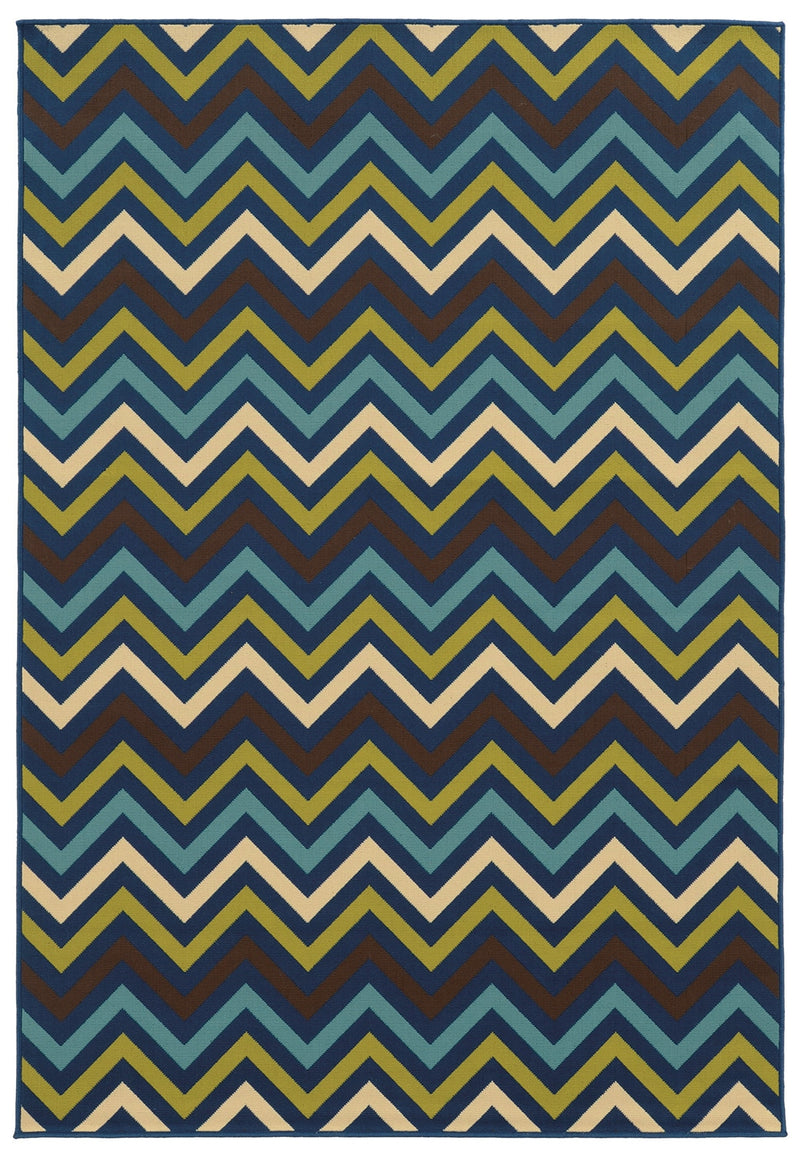 "Calypso 4593S Chevron Indoor/Outdoor Area Rug (5'3"" x 7'6"")"