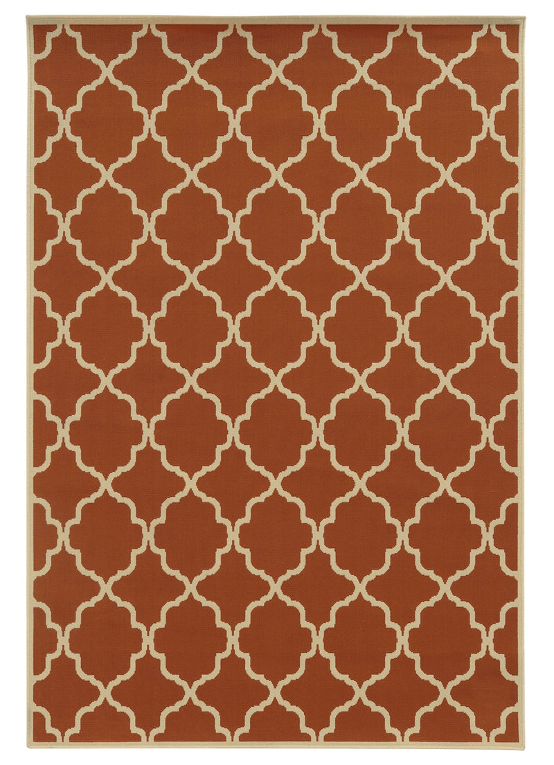 "Calypso 4770D Lattice Indoor/Outdoor Area Rug (5'3"" x 7'6"")"