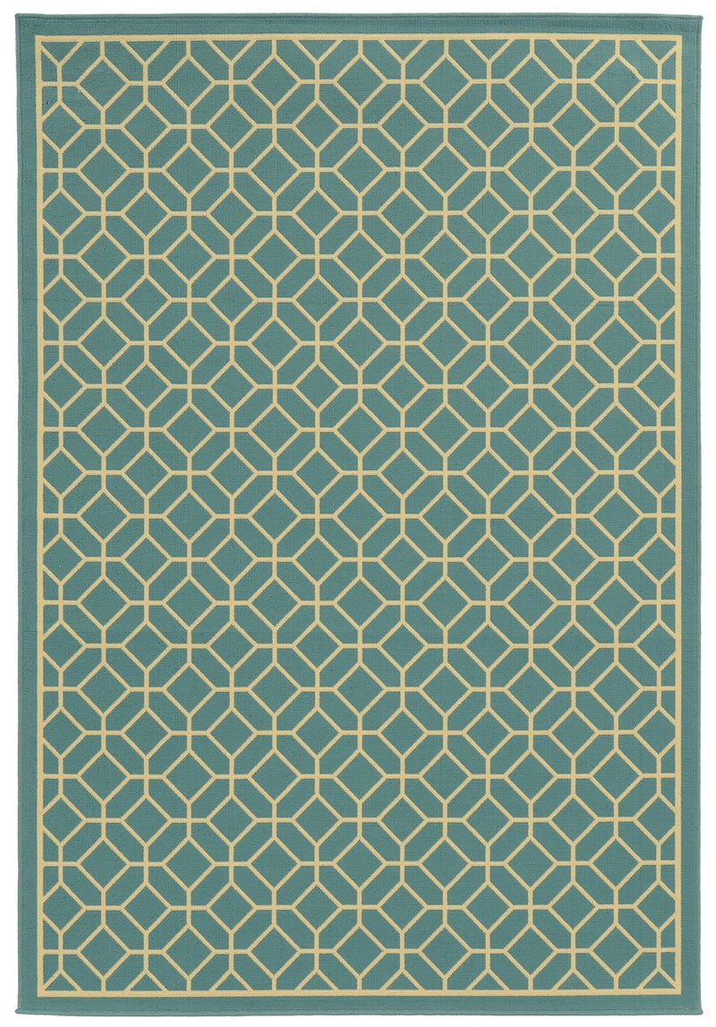 "Calypso 4771E Lattice Indoor/Outdoor Area Rug (5'3"" x 7'6"")"