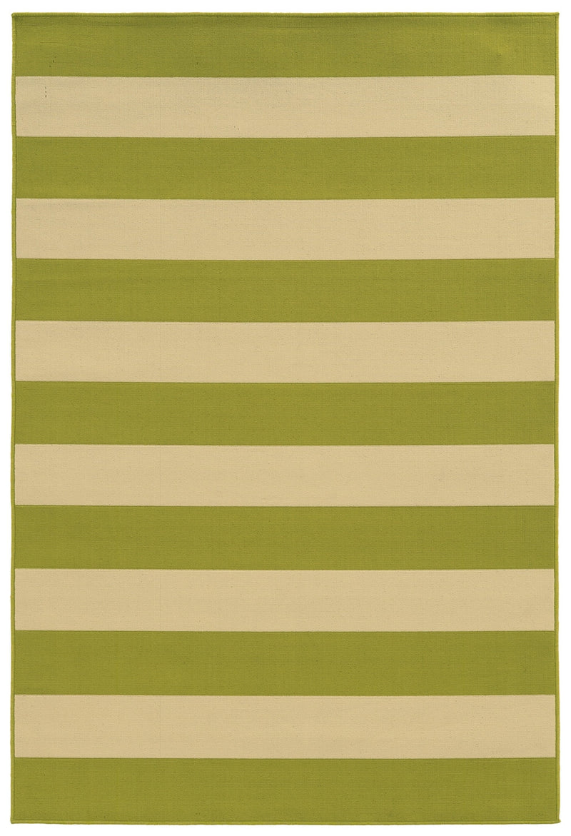 "Calypso 4768E Stripe Indoor/Outdoor Area Rug (8'6"" x 13')"