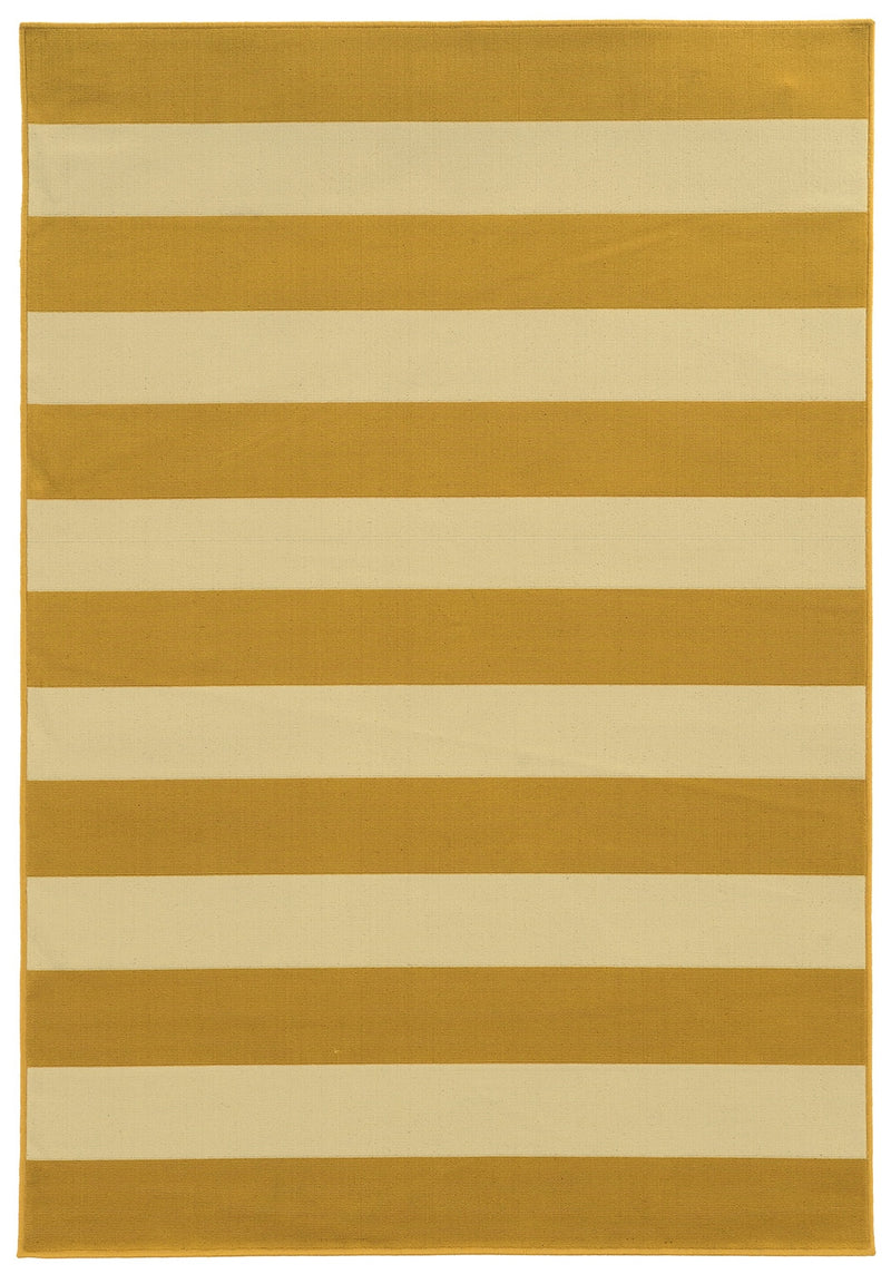 "Calypso 4768K Stripe Indoor/Outdoor Area Rug (5'3"" x 7'6"")"