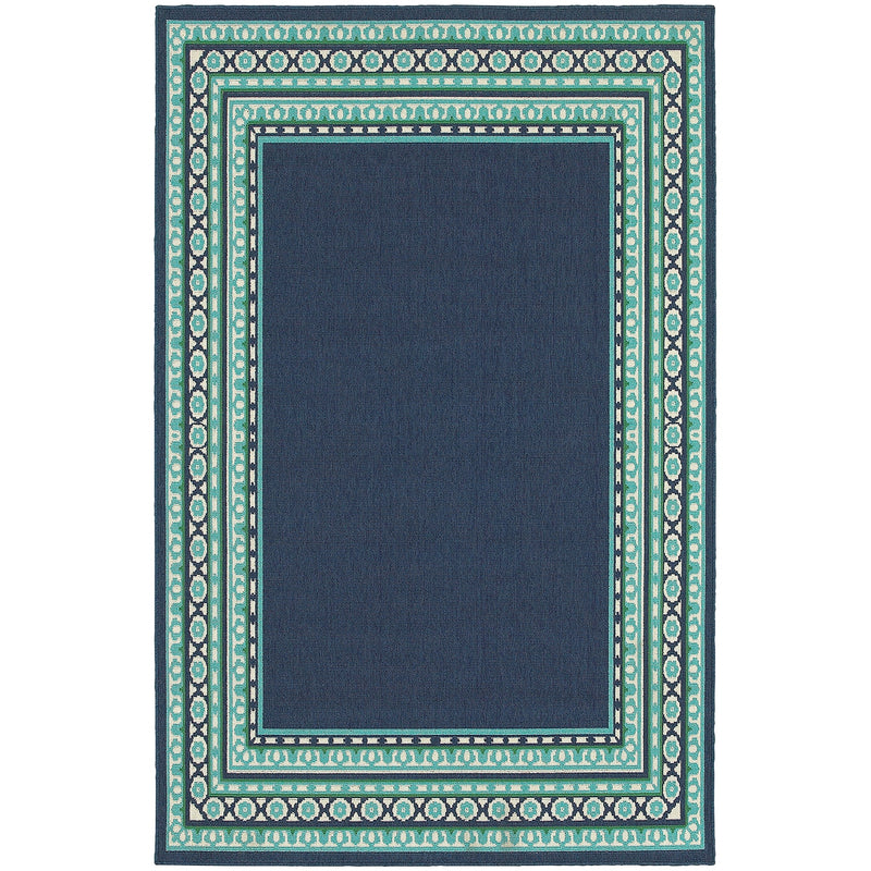 "Sarasota 9650B Border Indoor/Outdoor Area Rug (5'3"" x 7'6"")"