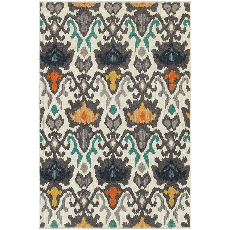 "Nantucket 530W5 Floral Indoor/Outdoor Area Rug (6'7"" x 9'6"")"