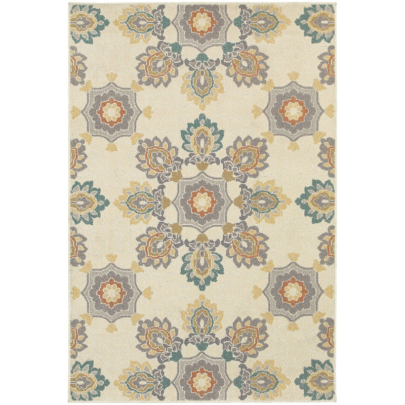 "Nantucket 078W5 Floral Indoor/Outdoor Area Rug (6'7"" x 9'6"")"
