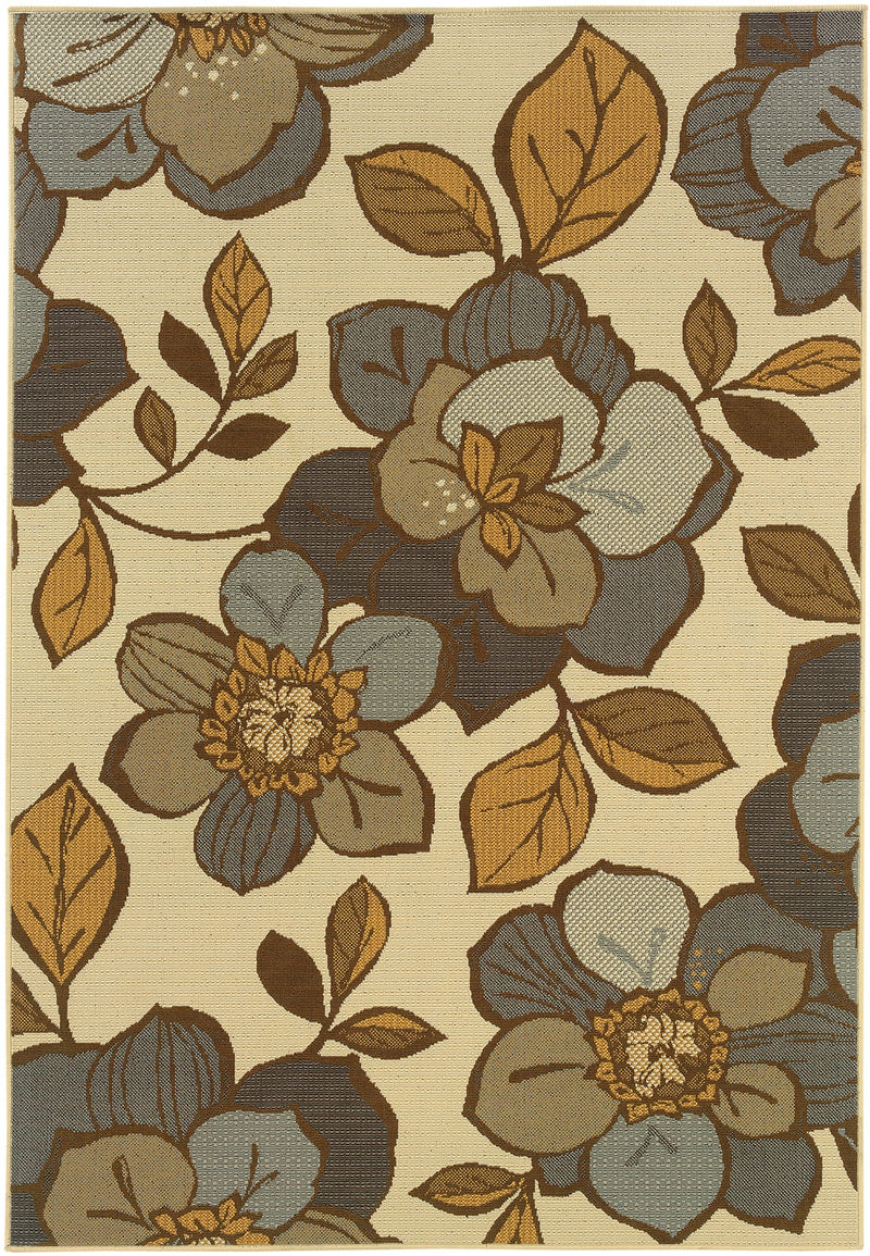"Ibiza 9448M Floral Indoor/Outdoor Area Rug (5'3"" x 7'6"")"