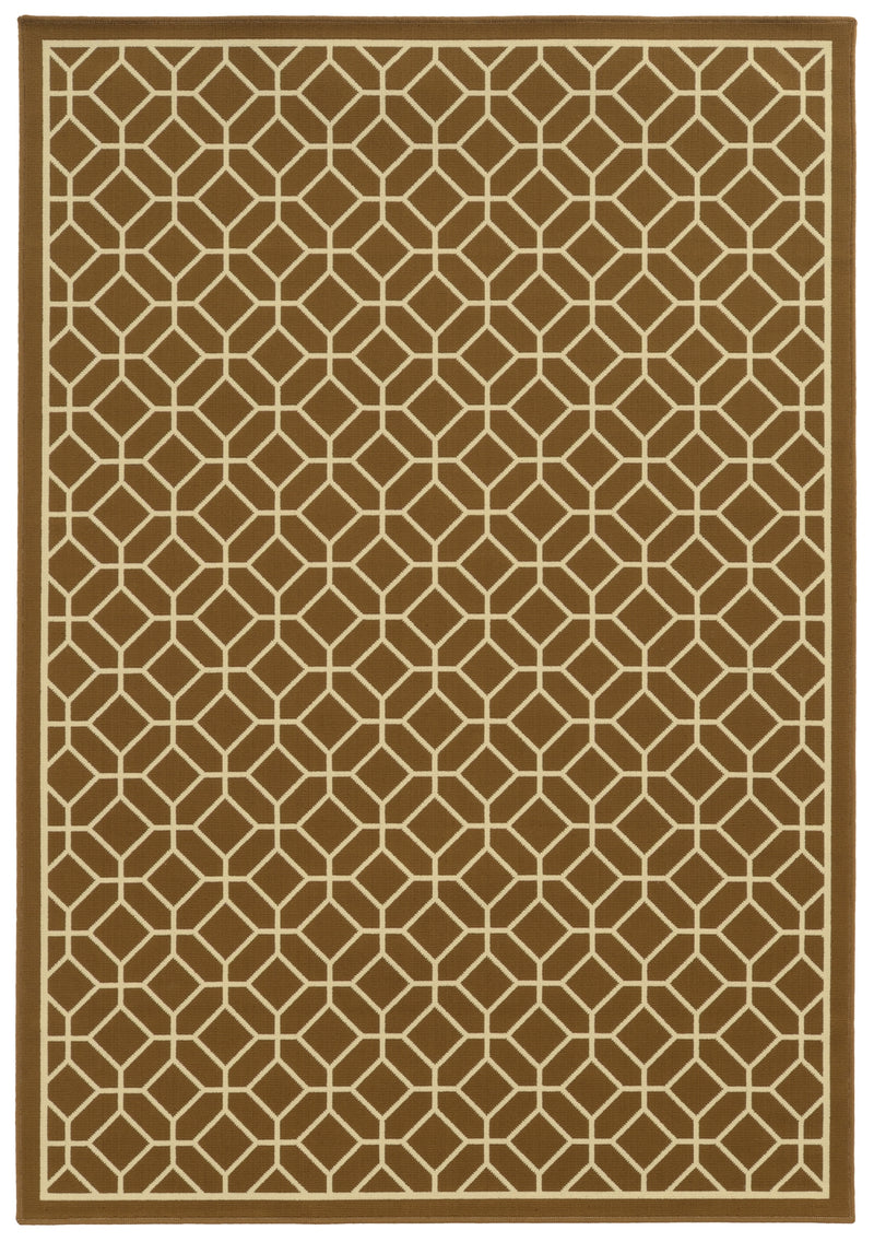 "Calypso 4771L Lattice Indoor/Outdoor Area Rug (5'3"" x 7'6"")"