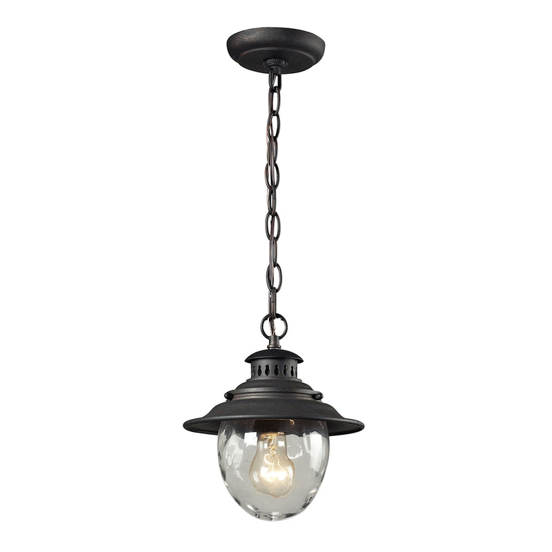 Iguala 1 Light Hanging - Weathered Charcoal