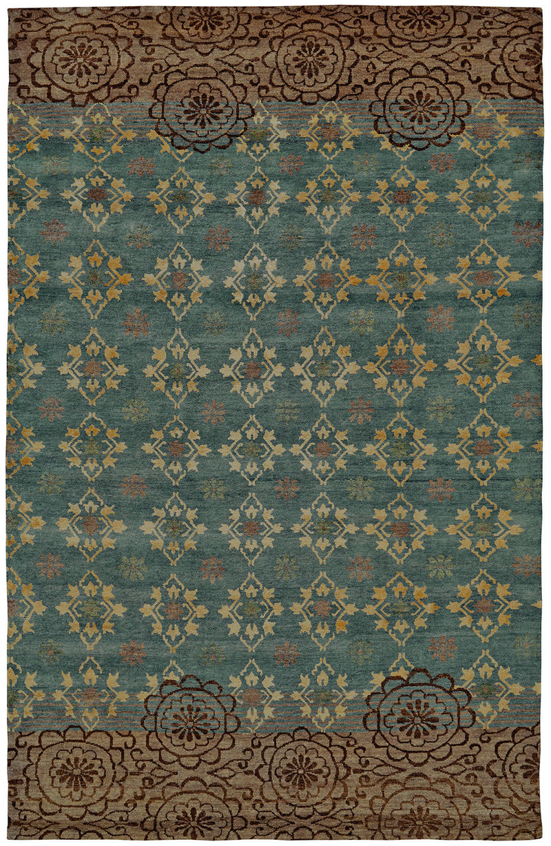 "Qing Silver Sage 8'6"" x 11'6"" Area Rug"