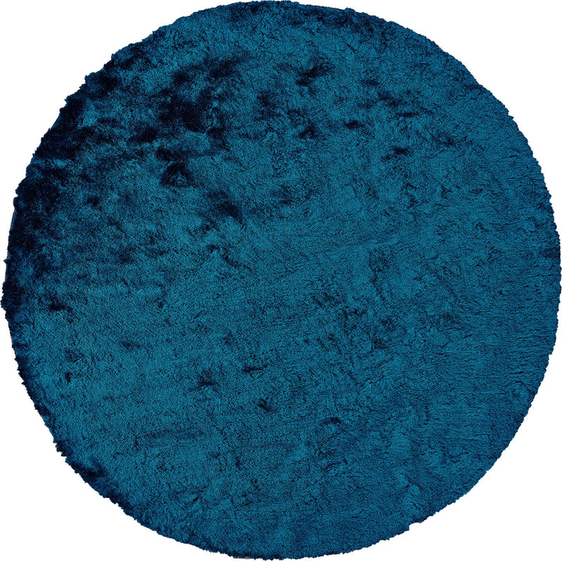 Indochine Teal 8' X 8' Round Area Rug