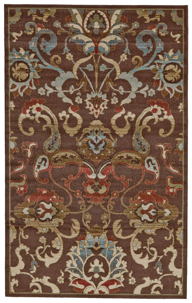 Rivington Dark Brown 5' x 8' Area Rug