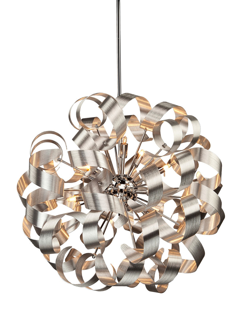 Bel Air Brushed Nickel Lighting Pendant