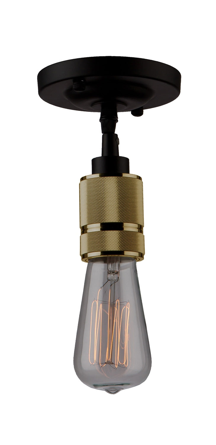 Jersey Lighting Vintage Brass Pendant