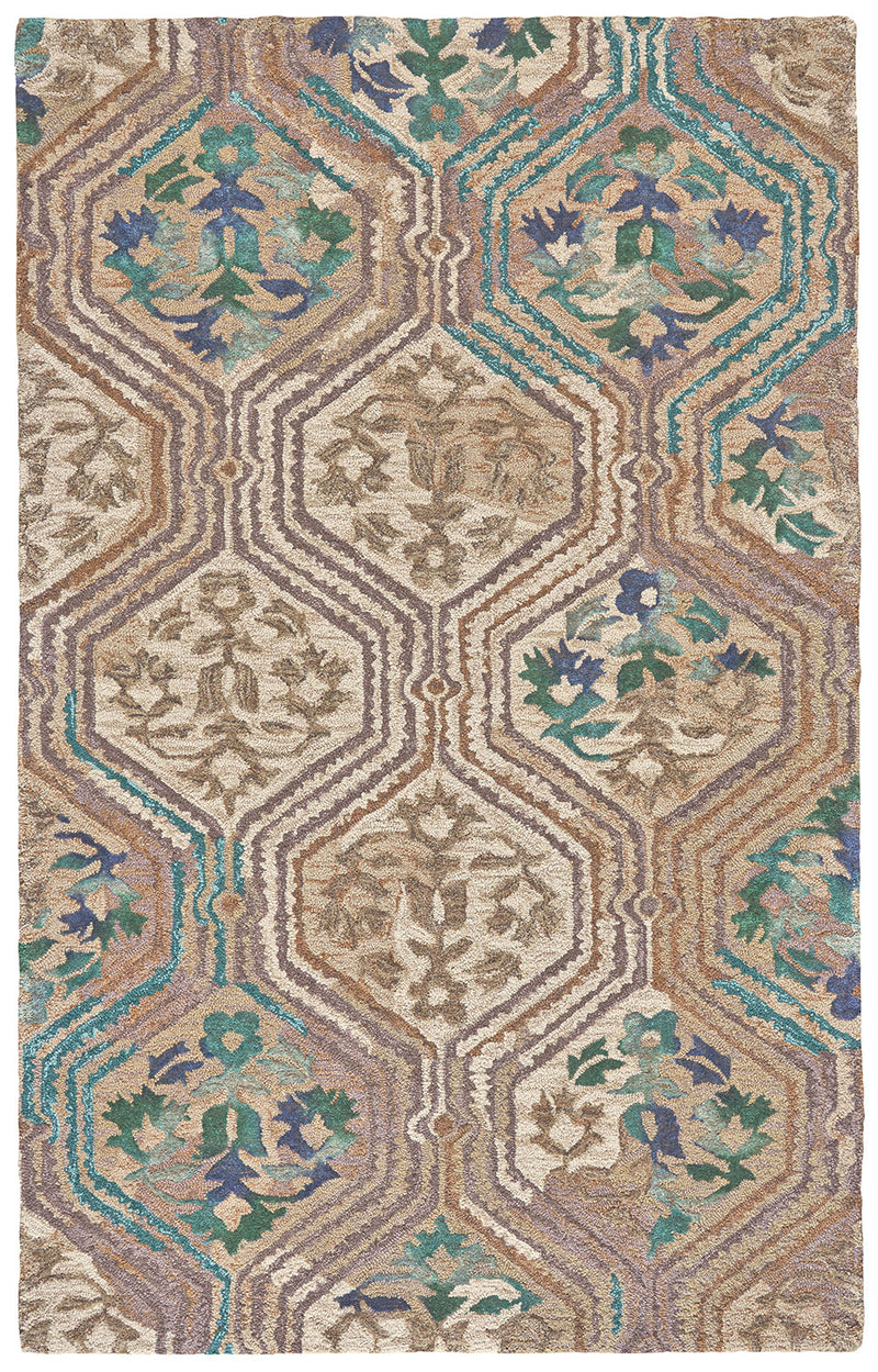 "Tivoli Evergreen 7'9"" x 9'9"" Area Rug"