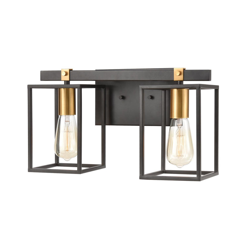 Piro 2 Light Vanity Light - Matte Black/Brushed Brass