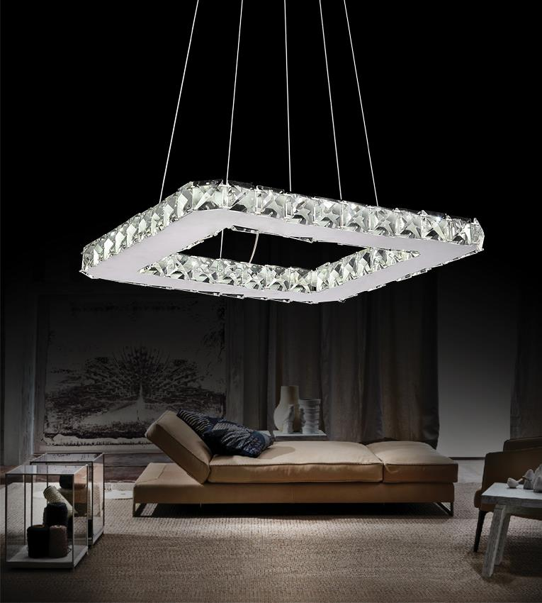 Ring LED Chandelier - Chrome