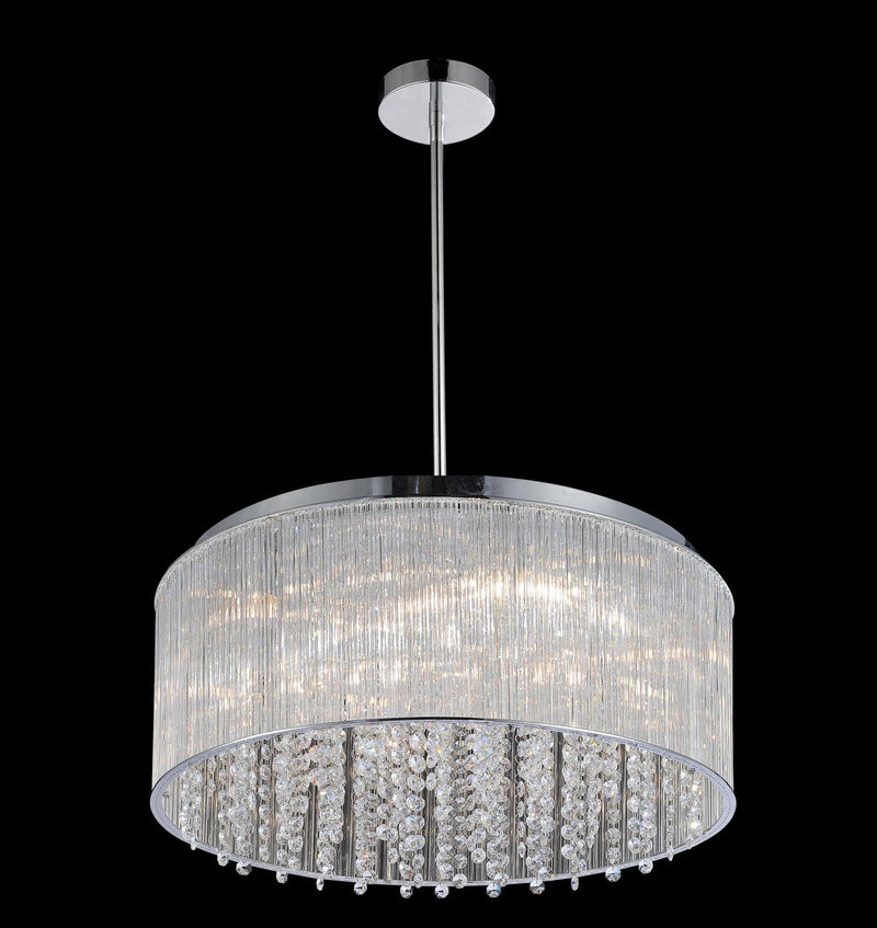 Spring Morning 9 Light Chandelier - Chrome