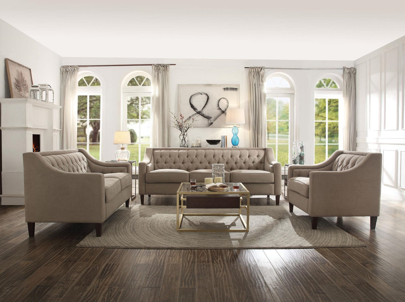 Jem 27 pc. Living Package - Sofa / Love Seat / Accent Chair