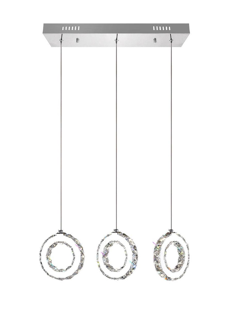 Ring LED Pendant Light - Chrome