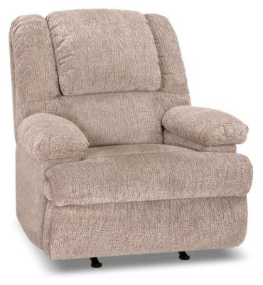 Inspired by U Chenille Power Massage Recliner with Storage Arms - Atlantic Sahara