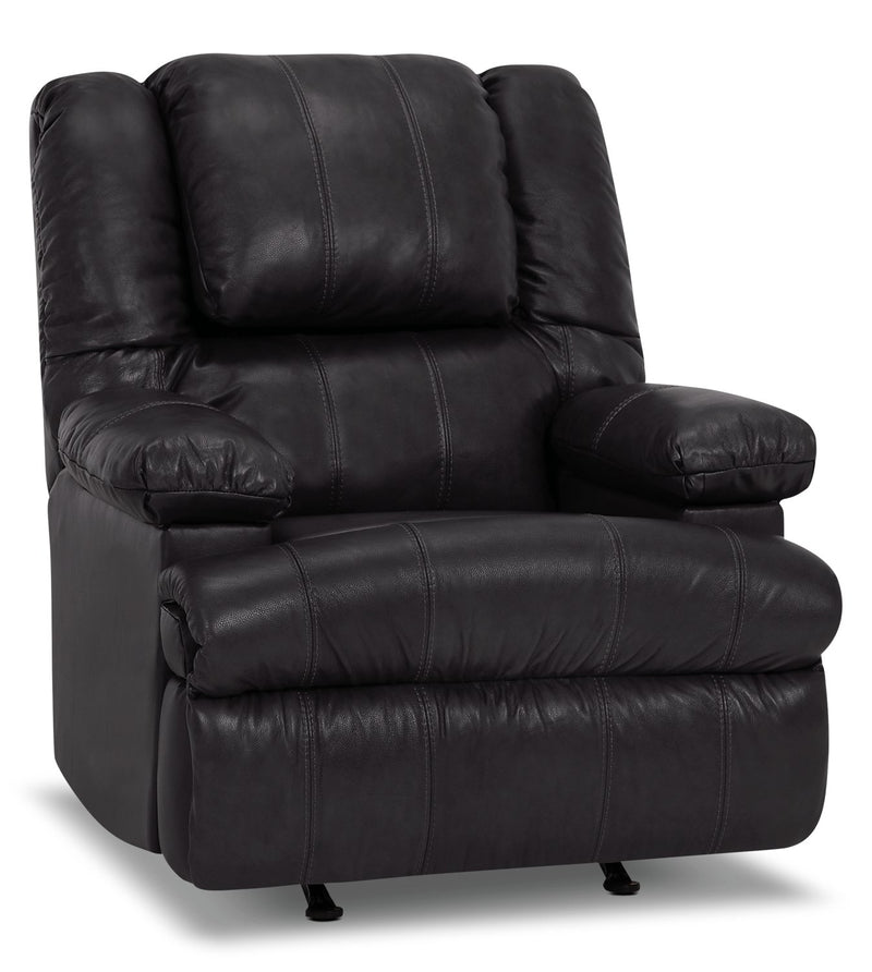 Inspired by U Genuine Leather Power Massage Recliner with Storage Arm - Weston Granite