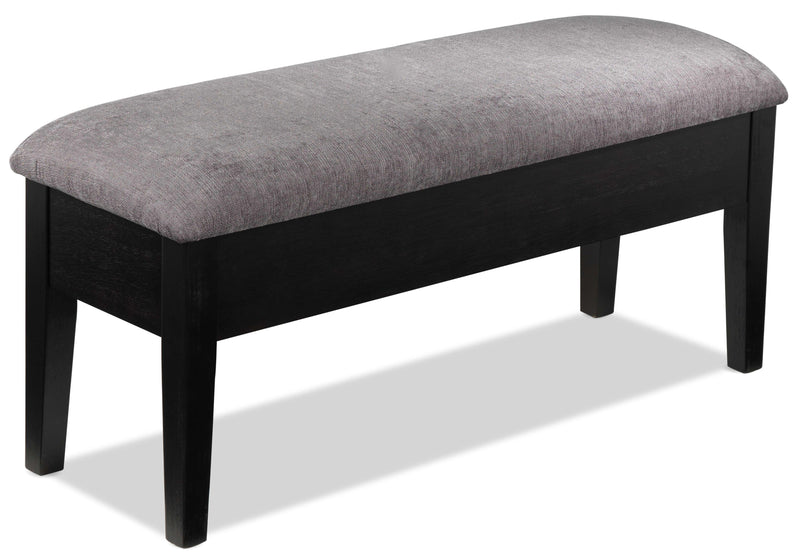 Dmitri Bench with Storage - Weathered Grey