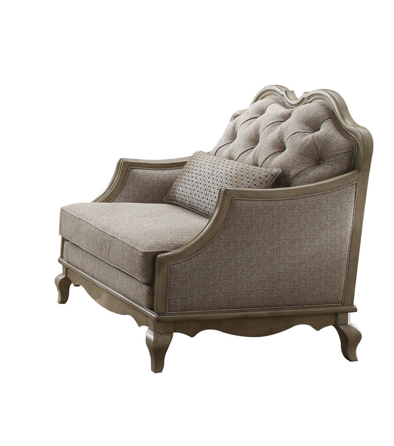 Plumage Accent Chair - Beige and Antique Taupe