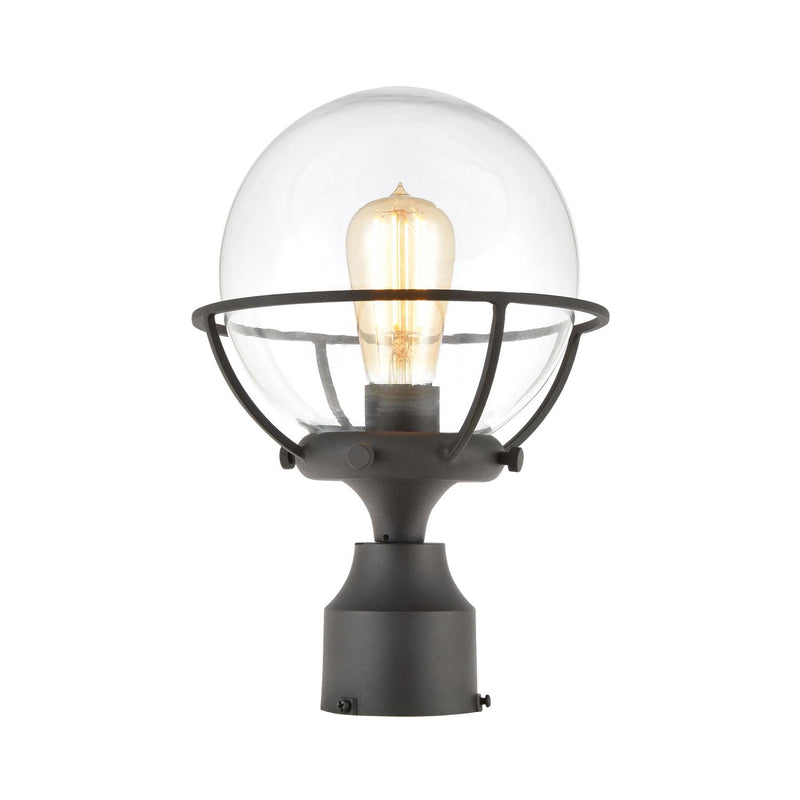 Mandla 1 Light Post Mount - Charcoal