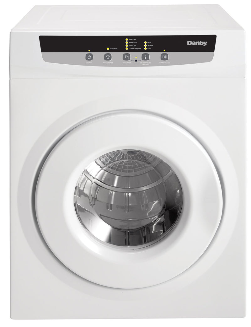 Danby White Electric Dryer (3.42 Cu. Ft) - DDY060WDB