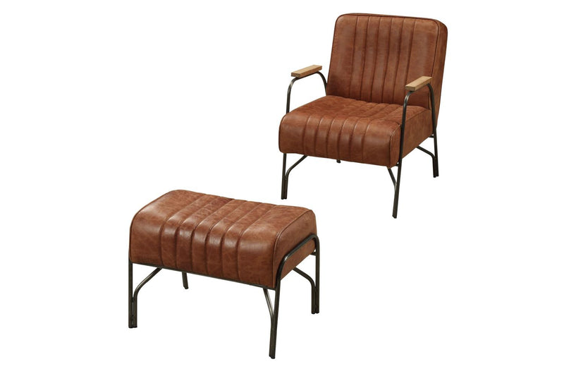 Charlie Brown - III Leather Chair & Ottoman
