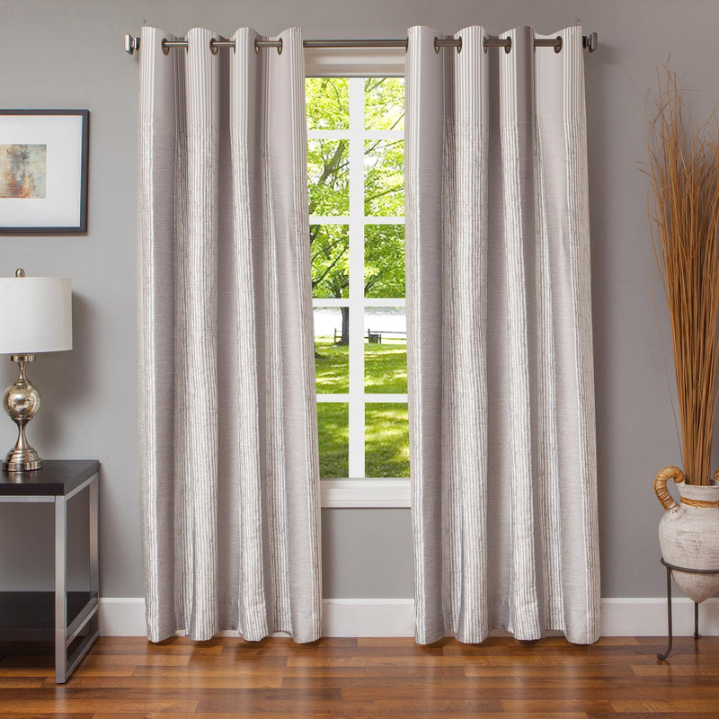 Winter Streak Drapery Panel (84 X 55) - Silver