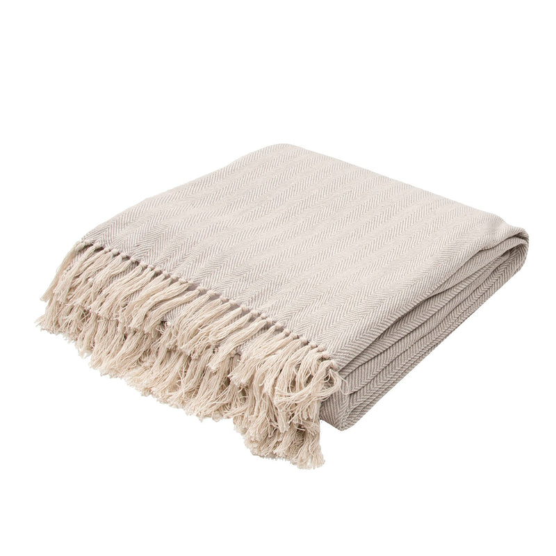 Baycrest Throw - Neutral Grey/Birch