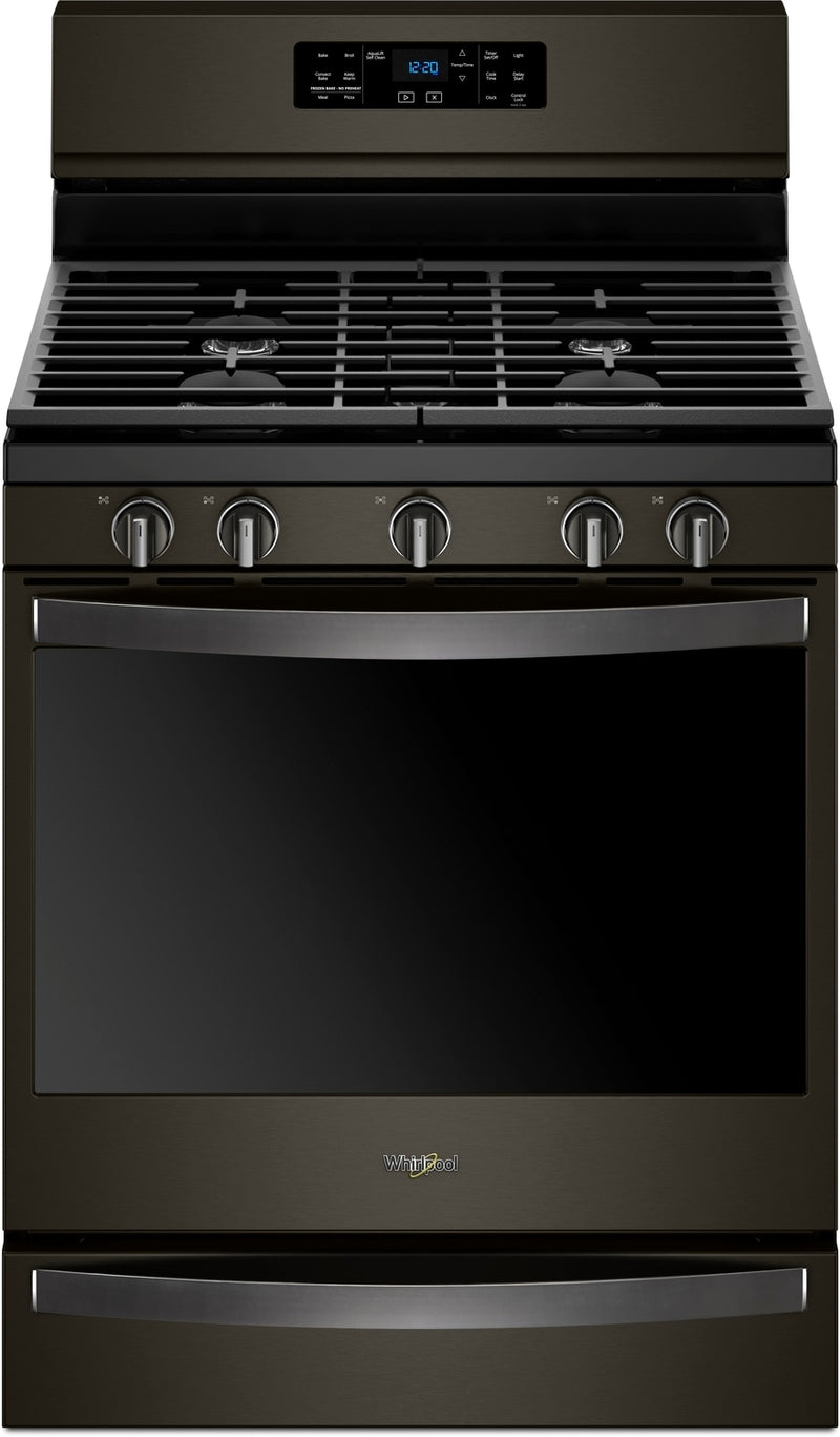 Whirlpool Black Stainless Steel Freestanding Gas Convection Range (5.8 Cu. Ft.) - WFG775H0HV