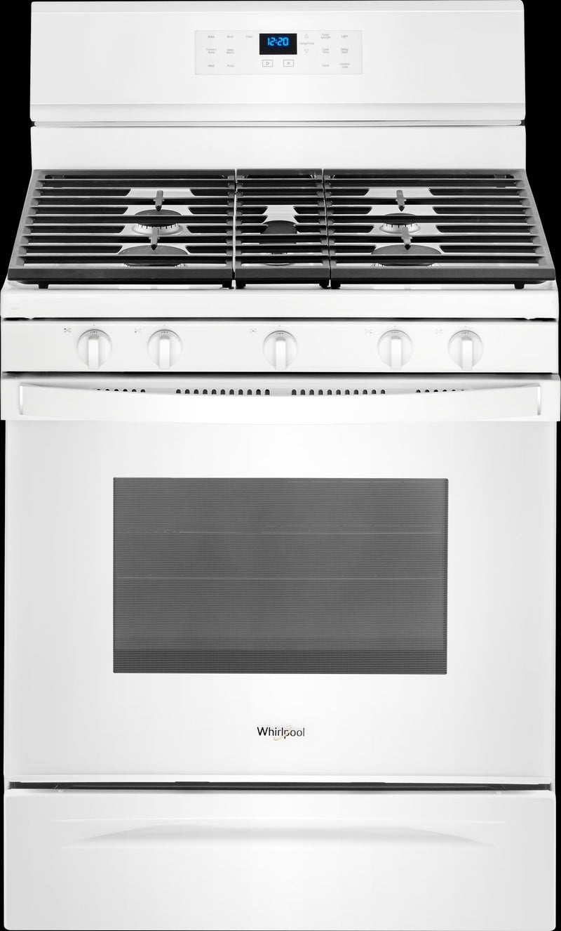 Whirlpool White Freestanding Gas Convection Range (5.0 Cu. Ft.) - WFG550S0HW
