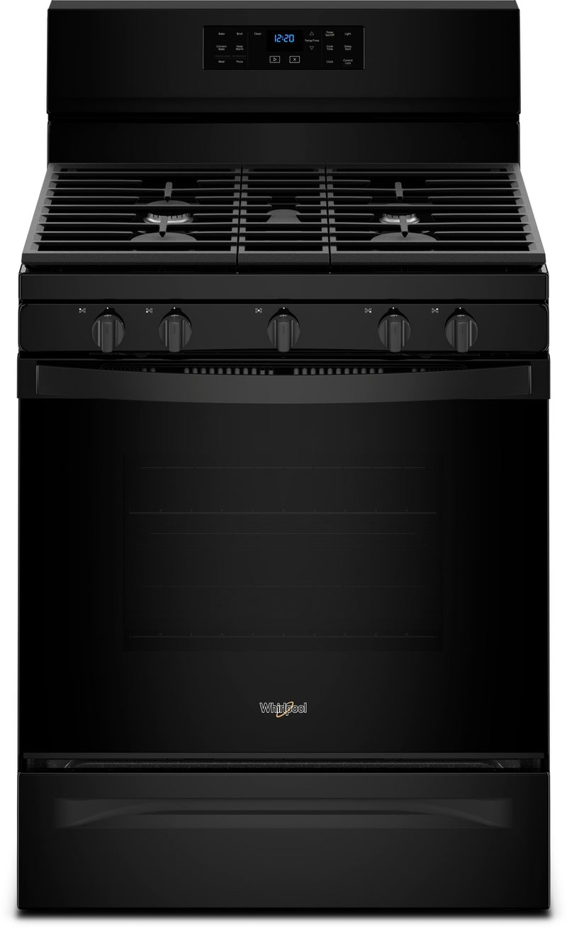 Whirlpool Black Freestanding Gas Convection Range (5.0 Cu. Ft.) - WFG550S0HB