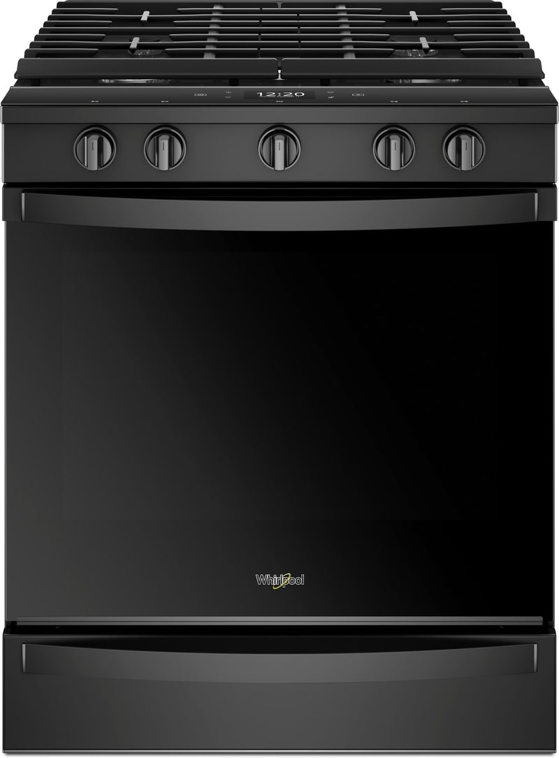 Whirlpool Black Slide-In Gas True Convection Range (5.8 Cu. Ft.) - WEG750H0HB