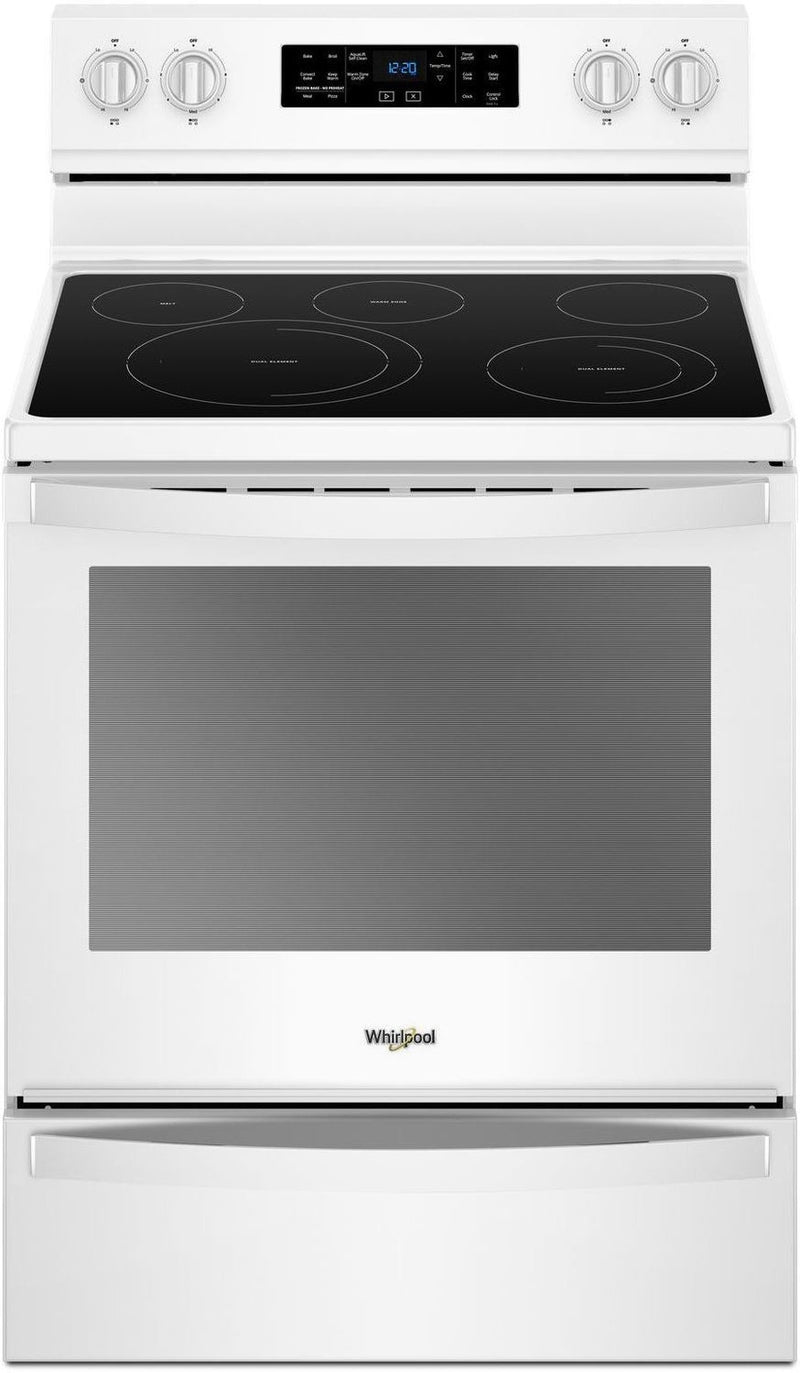 Whirlpool White Freestanding Electric Convection Range (6.4 Cu. Ft.) - YWFE775H0HW