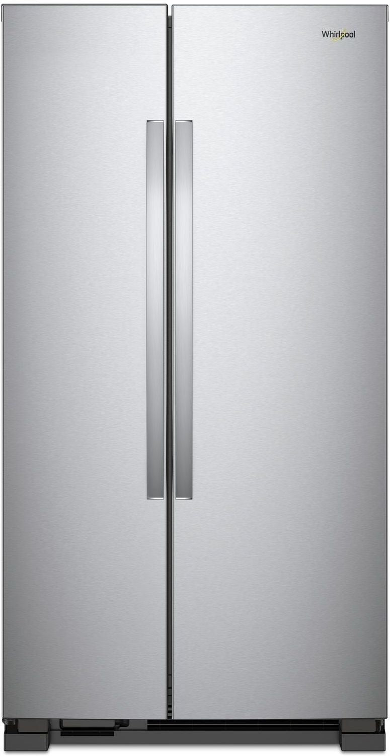Whirlpool Monochromatic Stainless Steel Side-by-Side Refrigerator (22 Cu. Ft.) - WRS312SNHM