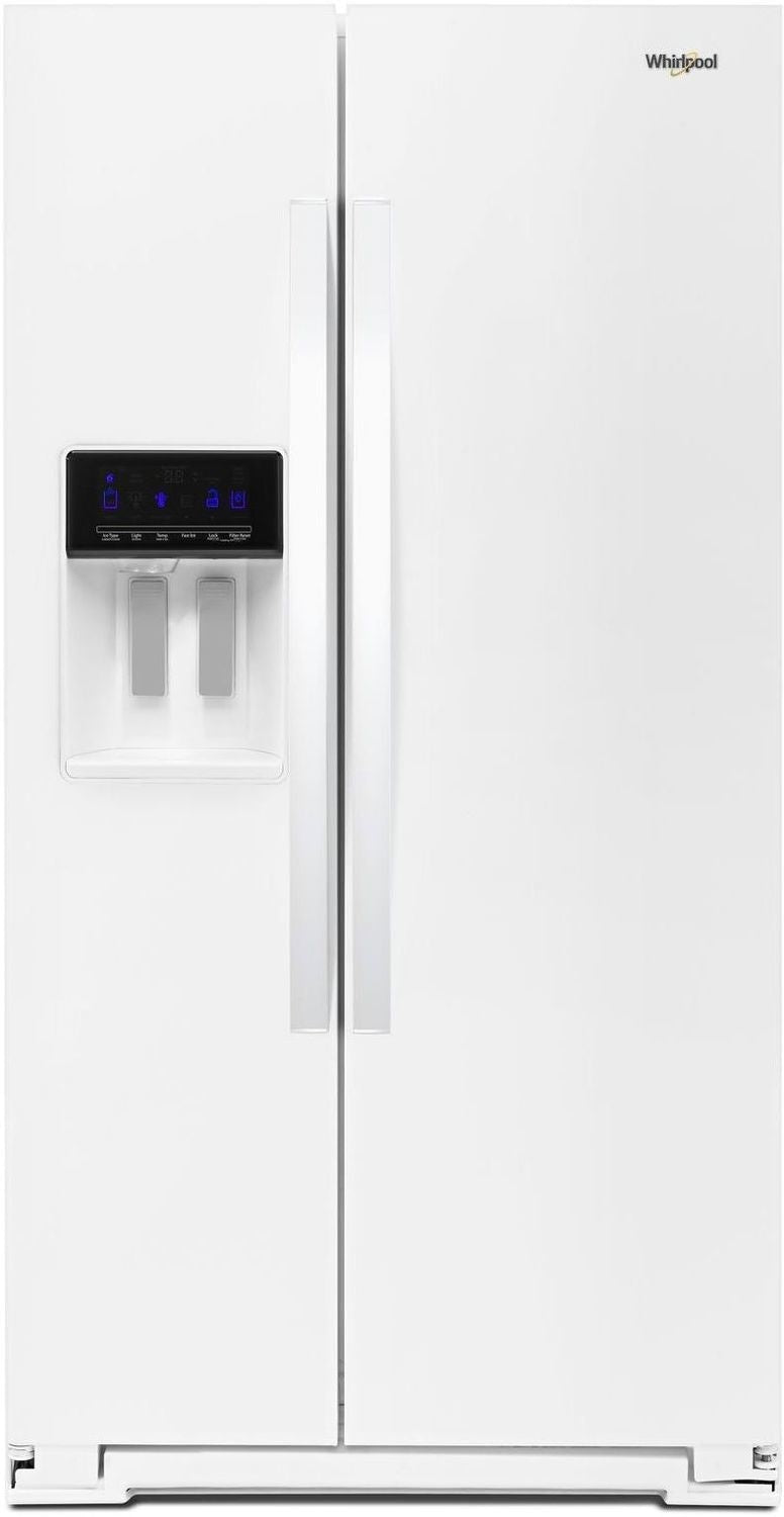 Whirlpool White Counter-Depth Side-by-Side Refrigerator (21 Cu. Ft.) - WRS571CIHW