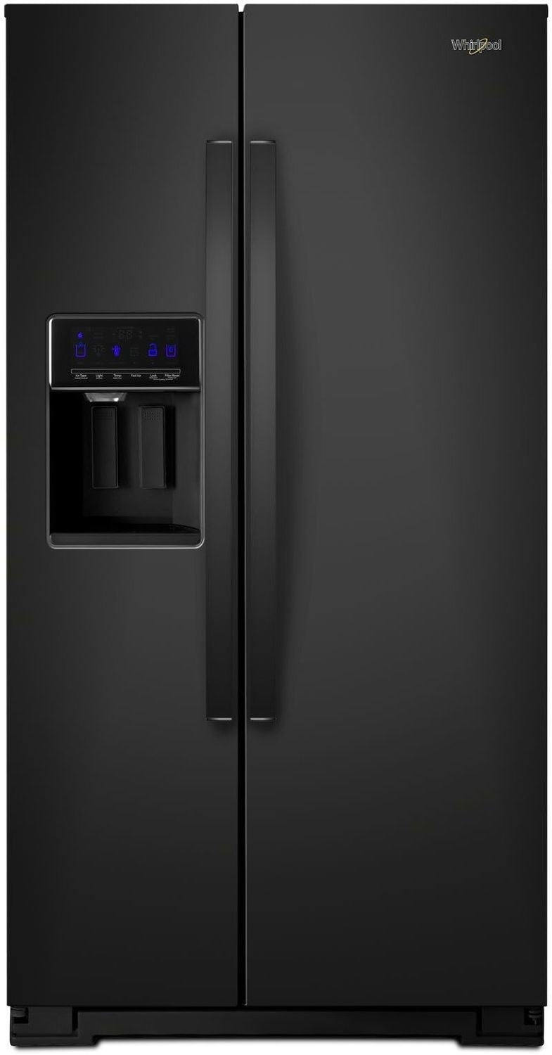Whirlpool Black Counter-Depth Side-by-Side Refrigerator (21 Cu. Ft.) - WRS571CIHB